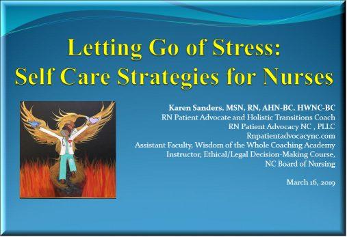 nurses let go of stress