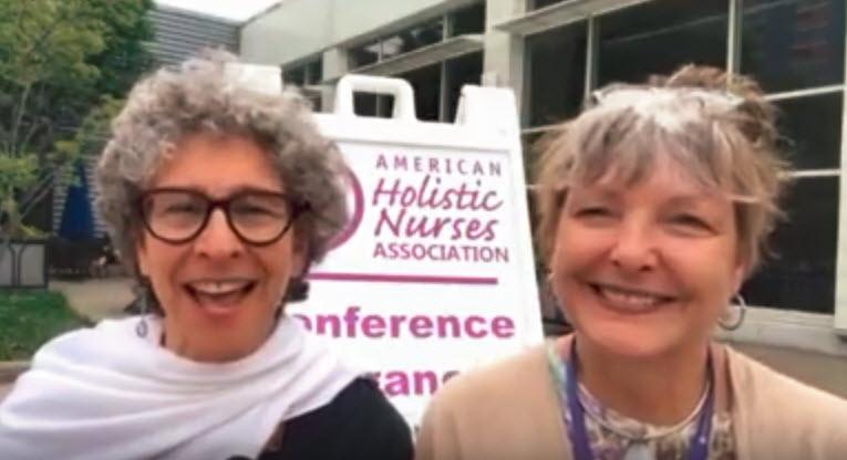 Karen Sanders and Jackie Levin at AHNA, 2018